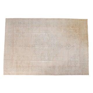 "Vintage Distressed Oushak Carpet - 8'6"" x 12'5"""