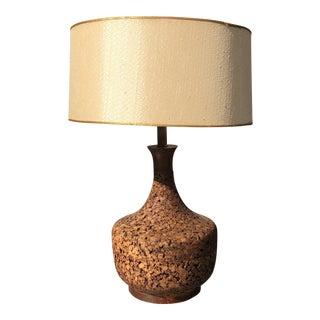 1970s Mid-Century Cork Lamp