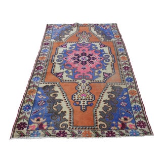 Antique Oushak Rug- 4′2″ × 7′1″