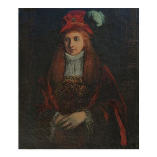 Young Irish Woman with Feathered Hat