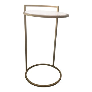 Modern Stone Top Accent Table
