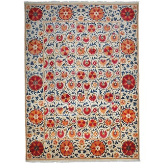 "Suzani, Hand Knotted Area Rug - 9' 0"" x 12' 3"""