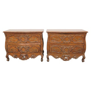 Italian Style Carved Commodes- A Pair