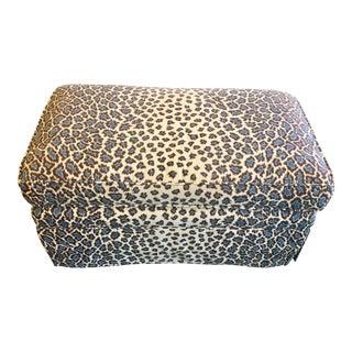 Custom Leopard Print Ottoman