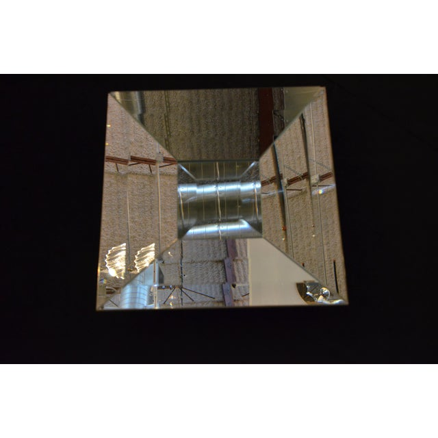 Italian Beveled Op Art Mirror - Image 7 of 11