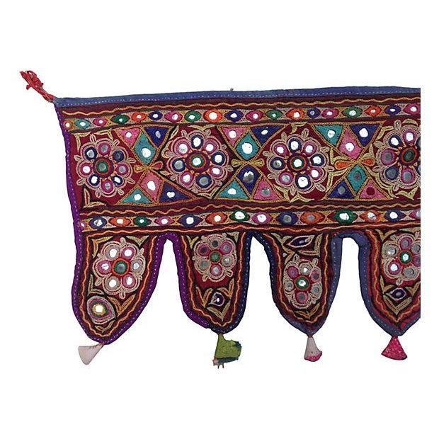 Indian Embroidered Mirrored Valance - Image 3 of 5