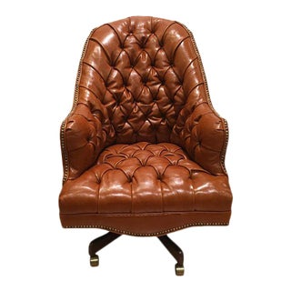 Old Hickory Tannery Leather Chesterfield Desk Chair