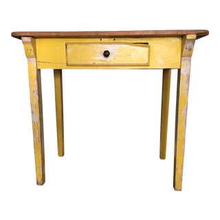 Primitive Yellow Console Table