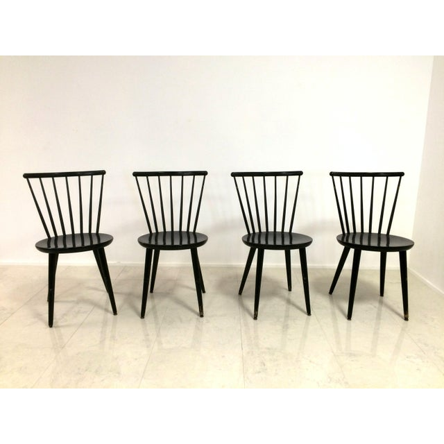 Swedish windsor style dining chairs set of 4 chairish for Swedish style dining chairs