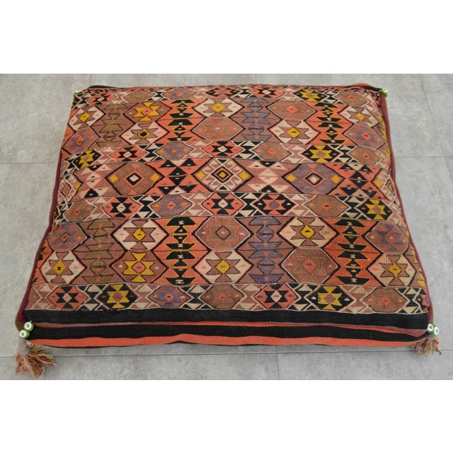 Turkish Kilim Floor Pillow : Turkish Hand Woven Kilim Floor Cushion Cover - 24? X 30? Chairish