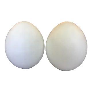 Laurel Lamp Company Large Egg Lamps - a Pair
