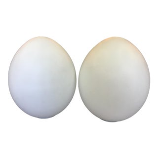 Laurel Lamp Company Large Egg Lamps - a Pair