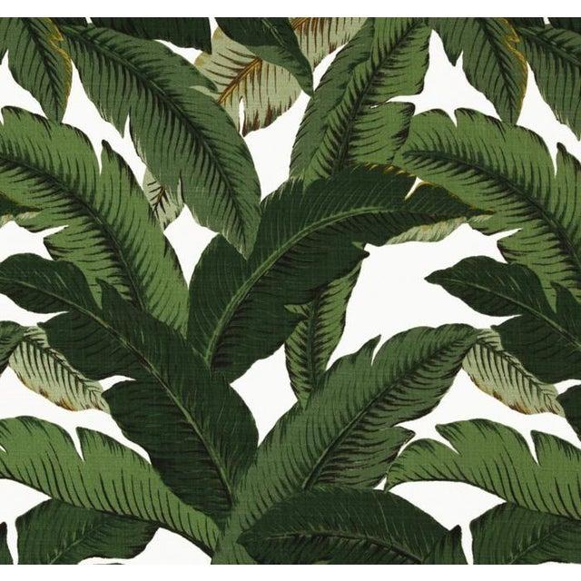 Green Swaying Palms Orange Cording Pillows - Pair - Image 2 of 2