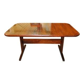 Vintage Trestle Base Rosewood Dining Table