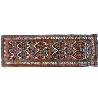 "Leon Banilivi Antique Black Bakhtiari Rug - 3'10"" X 14'"
