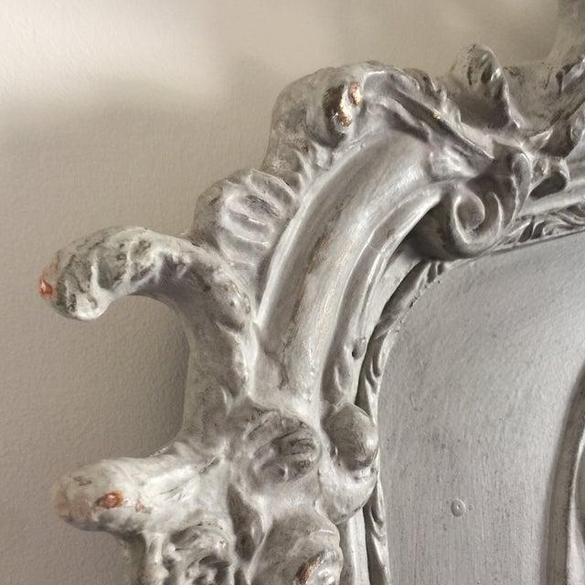 Grey Relief Beveled Floor Mirror - Image 4 of 7