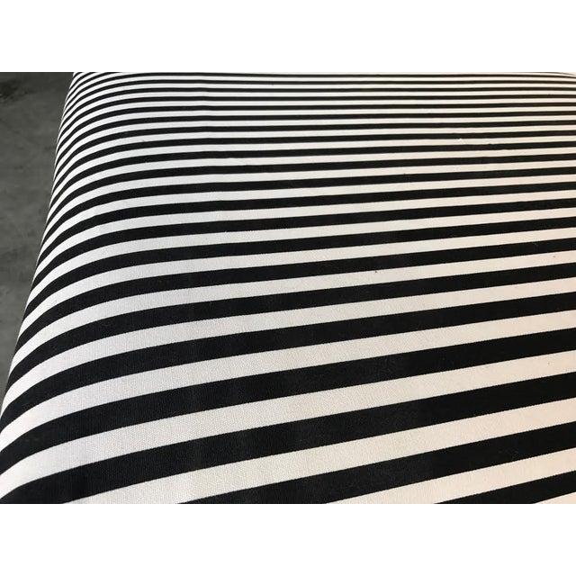 Hollywood Regency Black Amp White Striped Stool Chairish