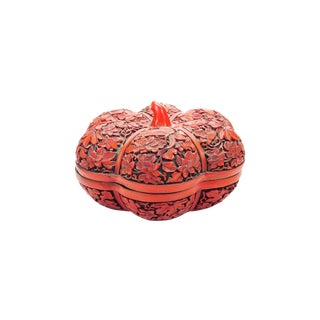 Vintage Cinnabar Tomato Shaped Box