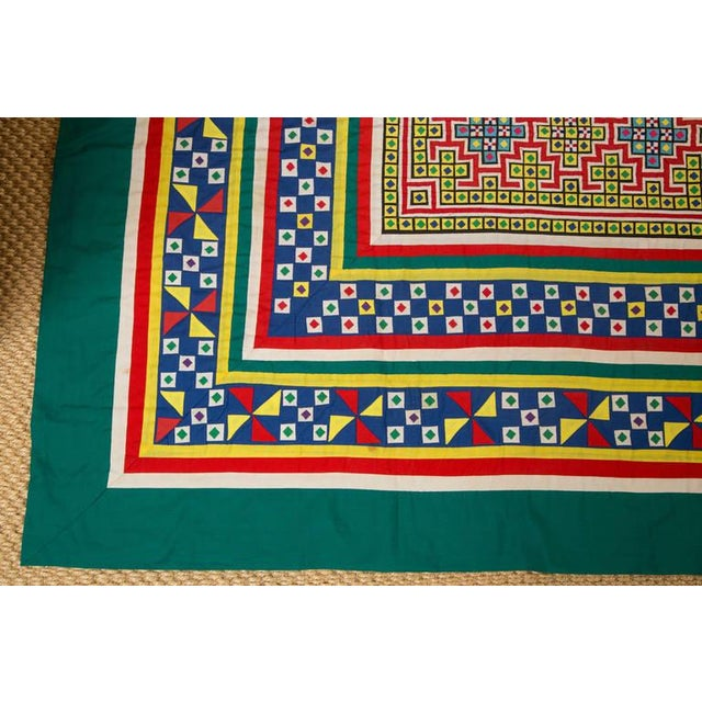 Handwoven Vietnamese Quilt - Image 3 of 8
