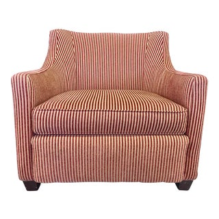 Charter Furniture Co. Wale Red & Gold Corduroy Armchair