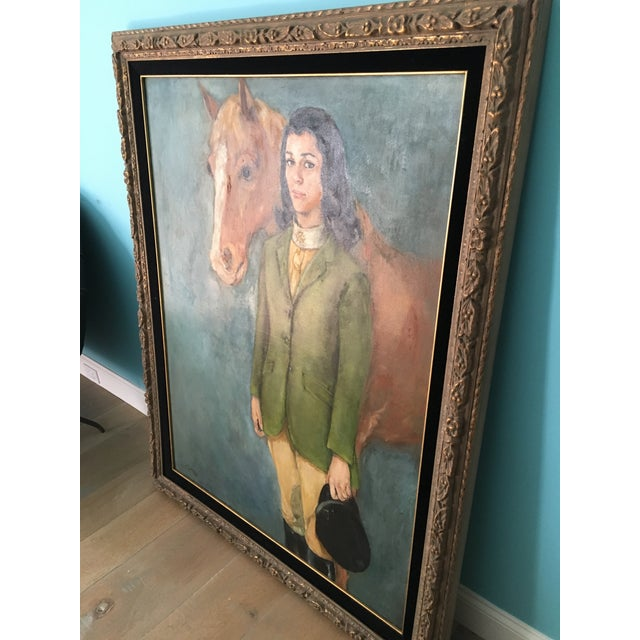 Equestrian Oil Painting - Image 4 of 6