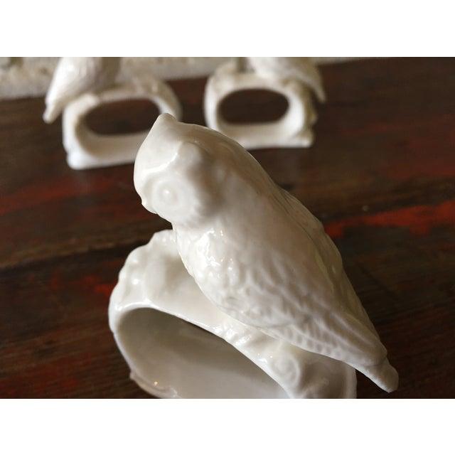Bone China Owl Napkin Rings - Set of 4 - Image 4 of 5