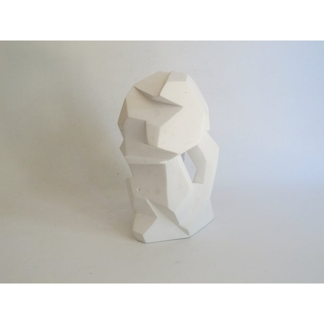 Abstract Cubist White Plaster Statue - Image 11 of 11