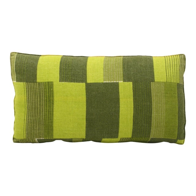 Mid-Century Abstract Bolster Pillow - Image 1 of 3