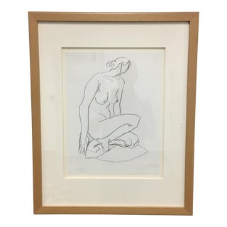 Nude Woman Original Pencil Drawing