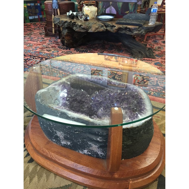 amethyst crystal geode coffee table chairish