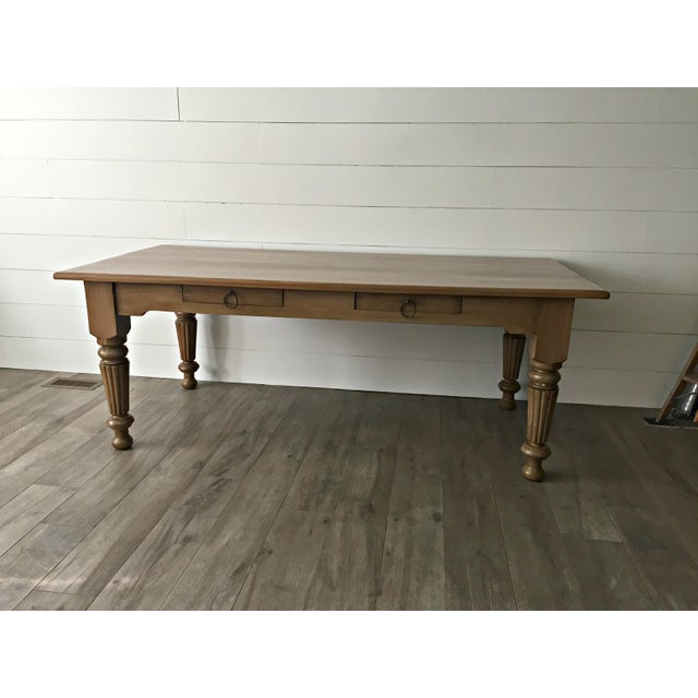Rustic Farmhouse Dining Table - Image 2 of 9