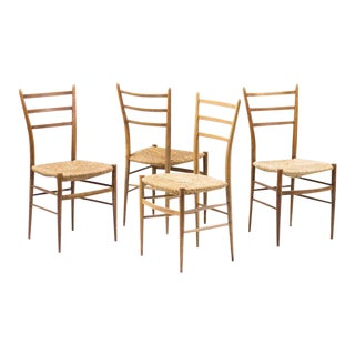 1950s Italian Leggera Chairs - Set of 4