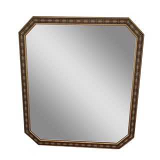 Beveled Edge Moroccan Mirror With Tile Print Frame