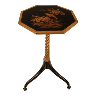 Octagonal Painted & Gilt Occasional Table