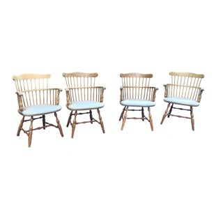Winchedon Antique Captains Chairs - Set of 4