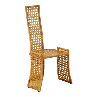 Fabulous Set of Six Rattan Dining Chairs by Danny Ho Fong