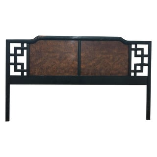 Dixie Fretwork Burl Wood King Headboard