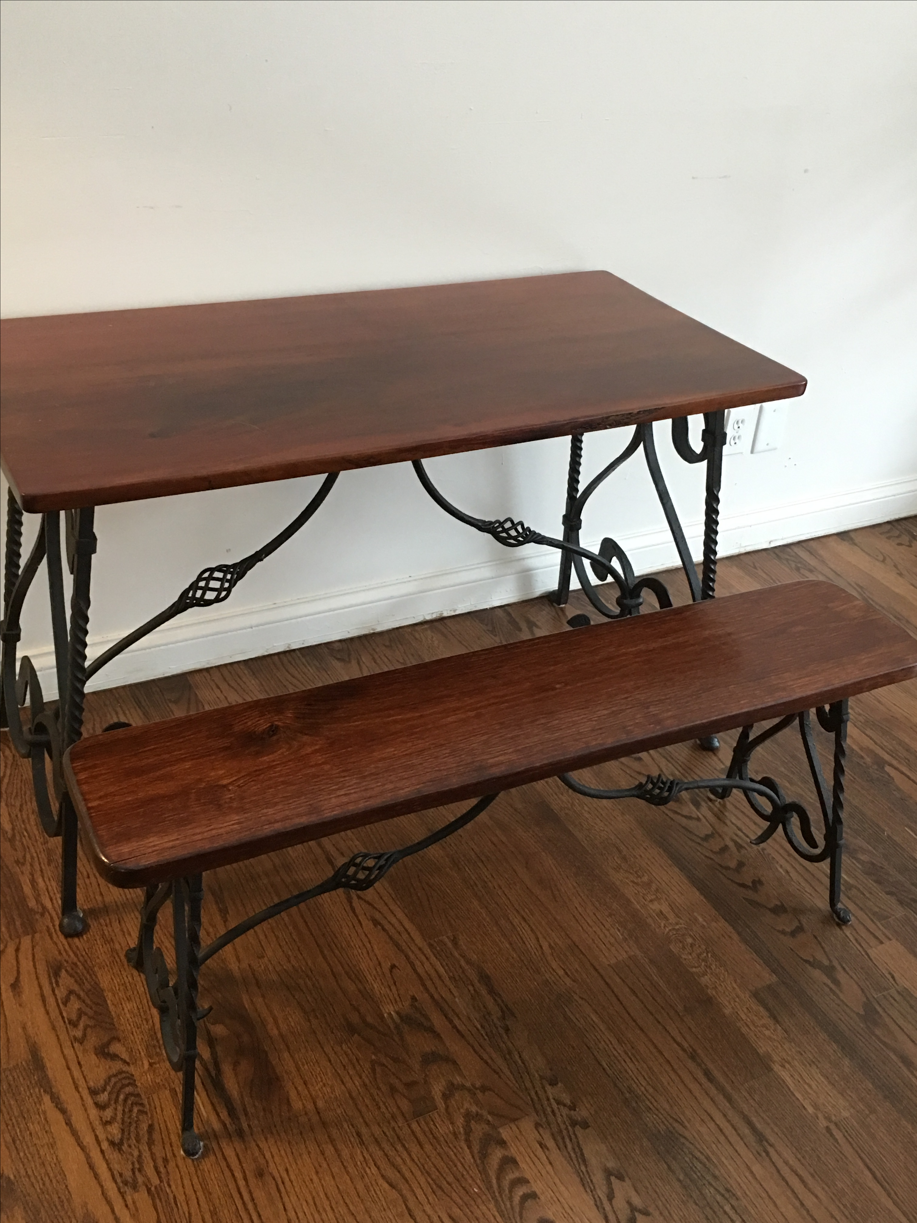 1900 Antique Wrought Iron Dining Table amp Benches Chairish : f3f09d53 7d21 4375 95ca f60e2492aa49aspectfitampwidth640ampheight640 from www.chairish.com size 640 x 640 jpeg 43kB