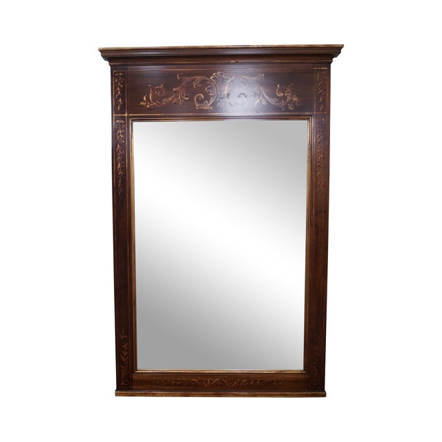 Image of John Widdicomb Hand Painted French Style Mirror