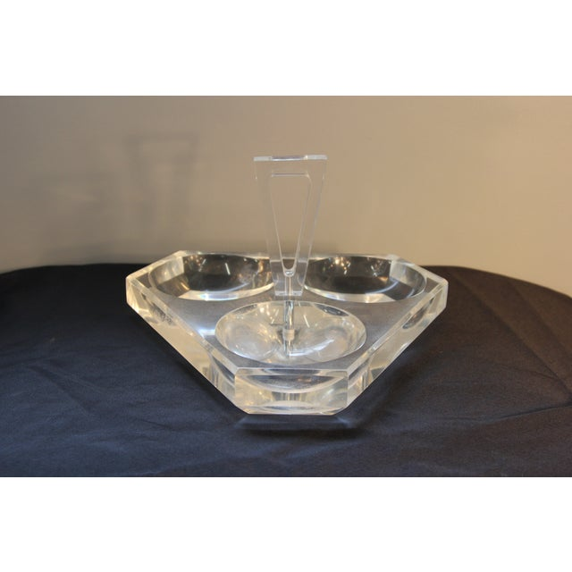 Image of Lucite Tray With Three Service Bowls