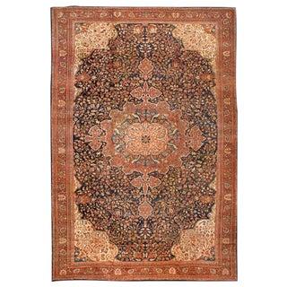 Antique Oversize 19th Century Persian Sarouk Carpet