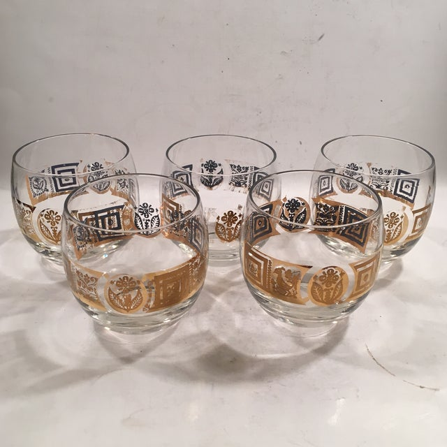 Vintage Culver Roly Poly Glasses - Set of 5 - Image 2 of 9