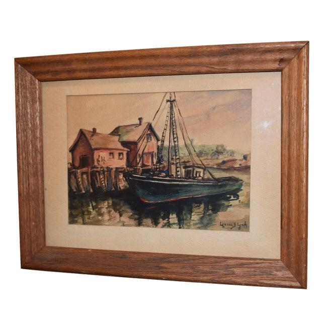 Lorena Lynch Mid-Century Sailboat Watercolor Painting - Image 1 of 6