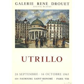 "Maurice Utrillo ""Galerie Rene Drouet"" 1965 Mourlot Lithograph"