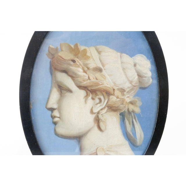 Framed Vintage Cameo Painting - Image 4 of 5