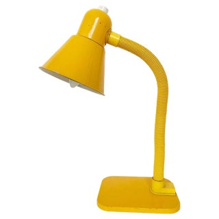 French Yellow Desk Lamp