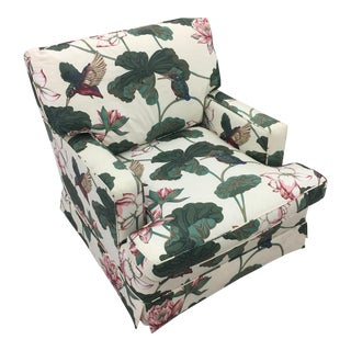 Vintage Hummingbird Upholstered Chair