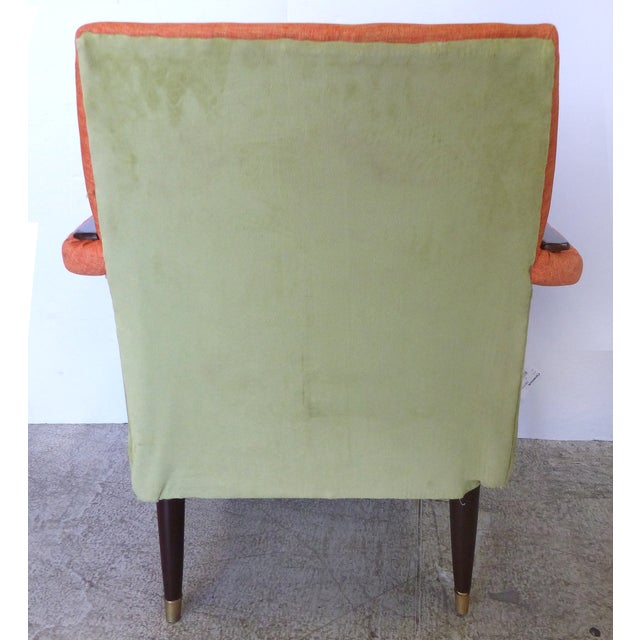 Angled Mid-Century Modern Club Chairs - Pair - Image 4 of 9