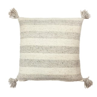 Ancho Pillow with Grey Stripes