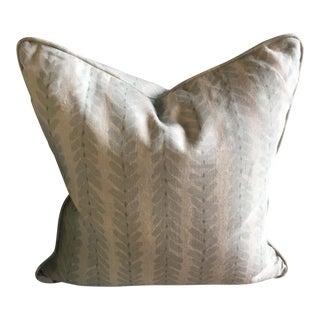Aqua Vines Down Pillow